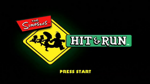 Simpsons Hit and Run Title
