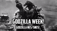 Godzilla Week NES SNES Intro Title Card