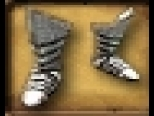Boot Silver Half-Plate Armored