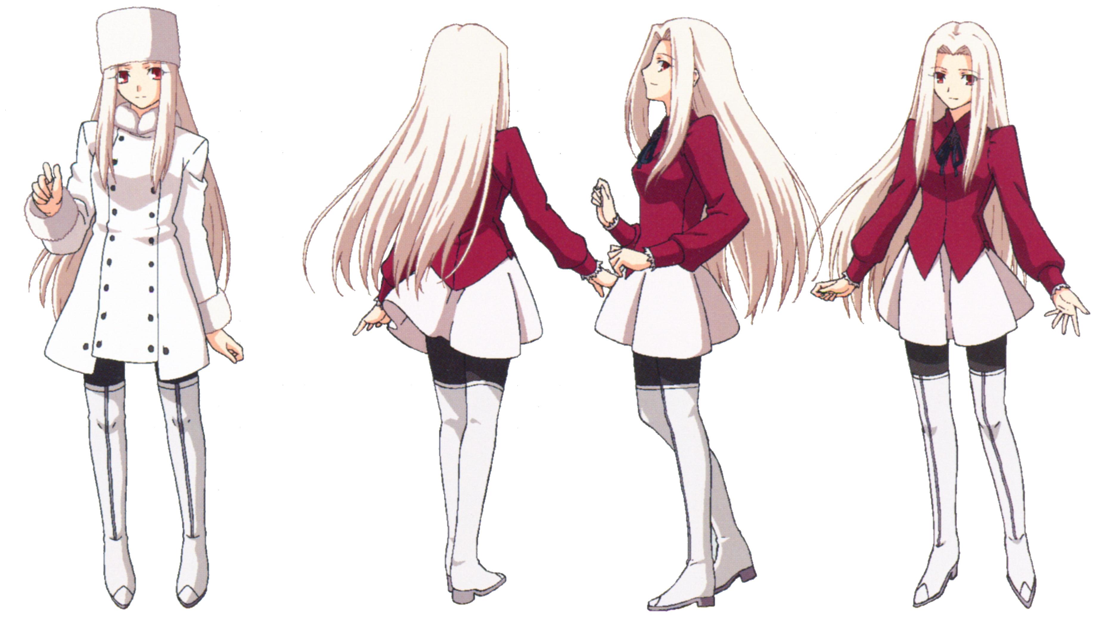 Archivo:Iri ufotable Fate Zero Character Sheet 2.png