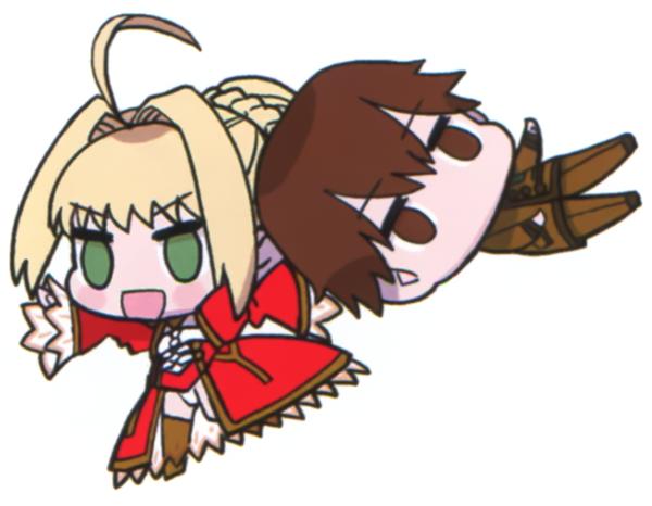 File:Saber draging hakuno away.png
