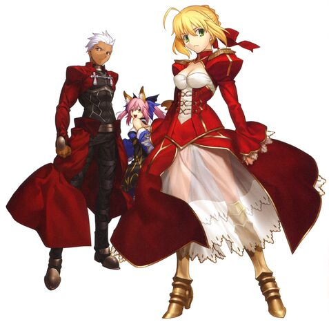 File:Saber,castor and archer from fate extra.jpg
