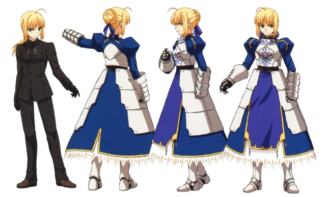 File:Saber ufotable Fate Zero Character Sheet1.png