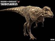Tarbosaurus walking with dinosaurs