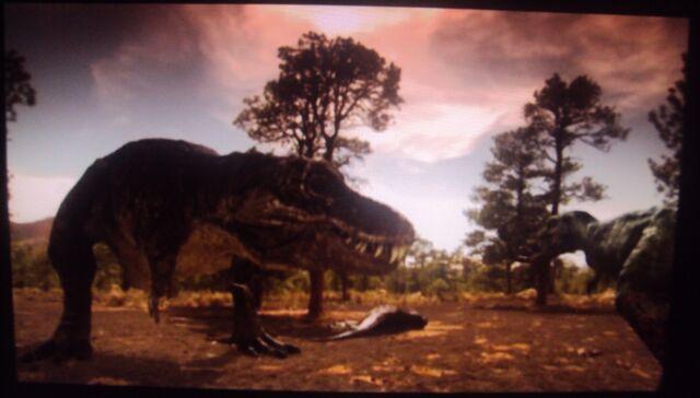 File:The female T-Rex is distracted Nanotyrannus.jpg