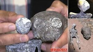 """An """"Alien Skull"""" from a cave in the southern desert of Peru"""