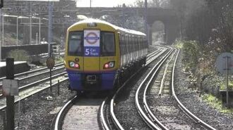 London Overground 378222 5 Car Train Departing Bushey