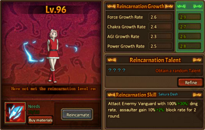 Reincarnation One Star Sakura