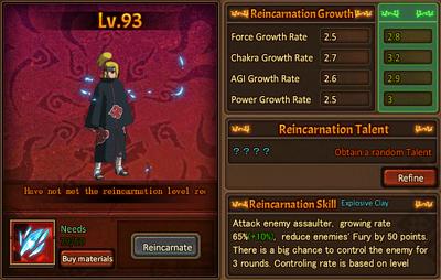 Reincarnation One Deidara