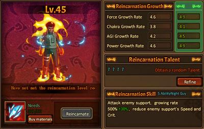 Reincarnation One Eight Gates Gai