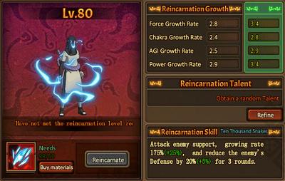 Reincarnation One Upgraded Orochimaru