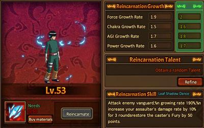 Reincarnation One Rock Lee