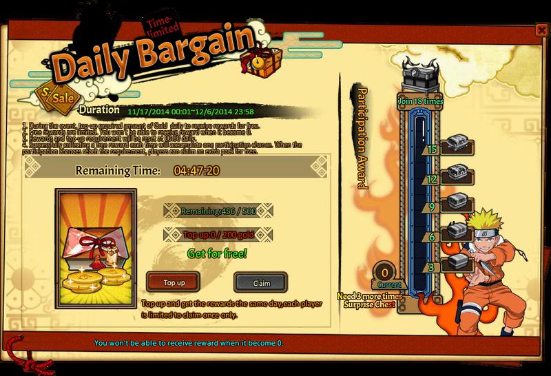 Daily Bargain Grid