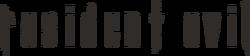 Resident evil series logo