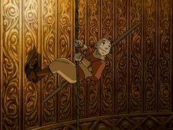 Aang descends
