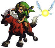 Link on Epona (MM)