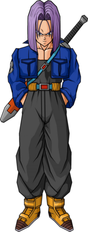 Future trunks sword long hair by db own universe arts-d3mzy91
