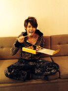 Mamoru eats