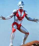 Muscular ultraman powered
