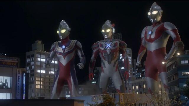 File:Ultraman, Tiga & X.jpeg