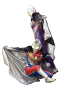 Ultraman tiga and ultraman dyna black cape render II