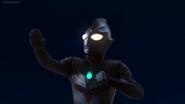 Ultraman Tiga faces the dark master