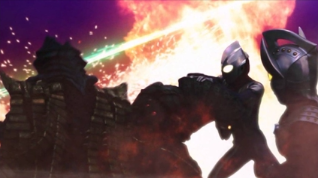 File:Ultraman Tiga and Ultraman Taro versus Golza and Temperor.png