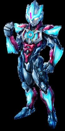 Ultraman Orb Lightning Attacker Art Render