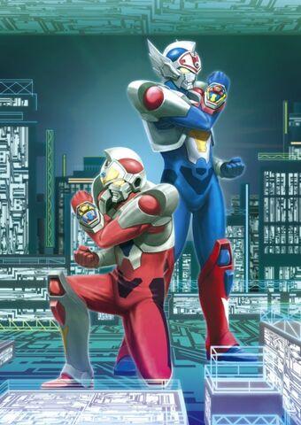 File:Denkou Choujin Gridman or Superhuman Samurai Syber Squad.jpg