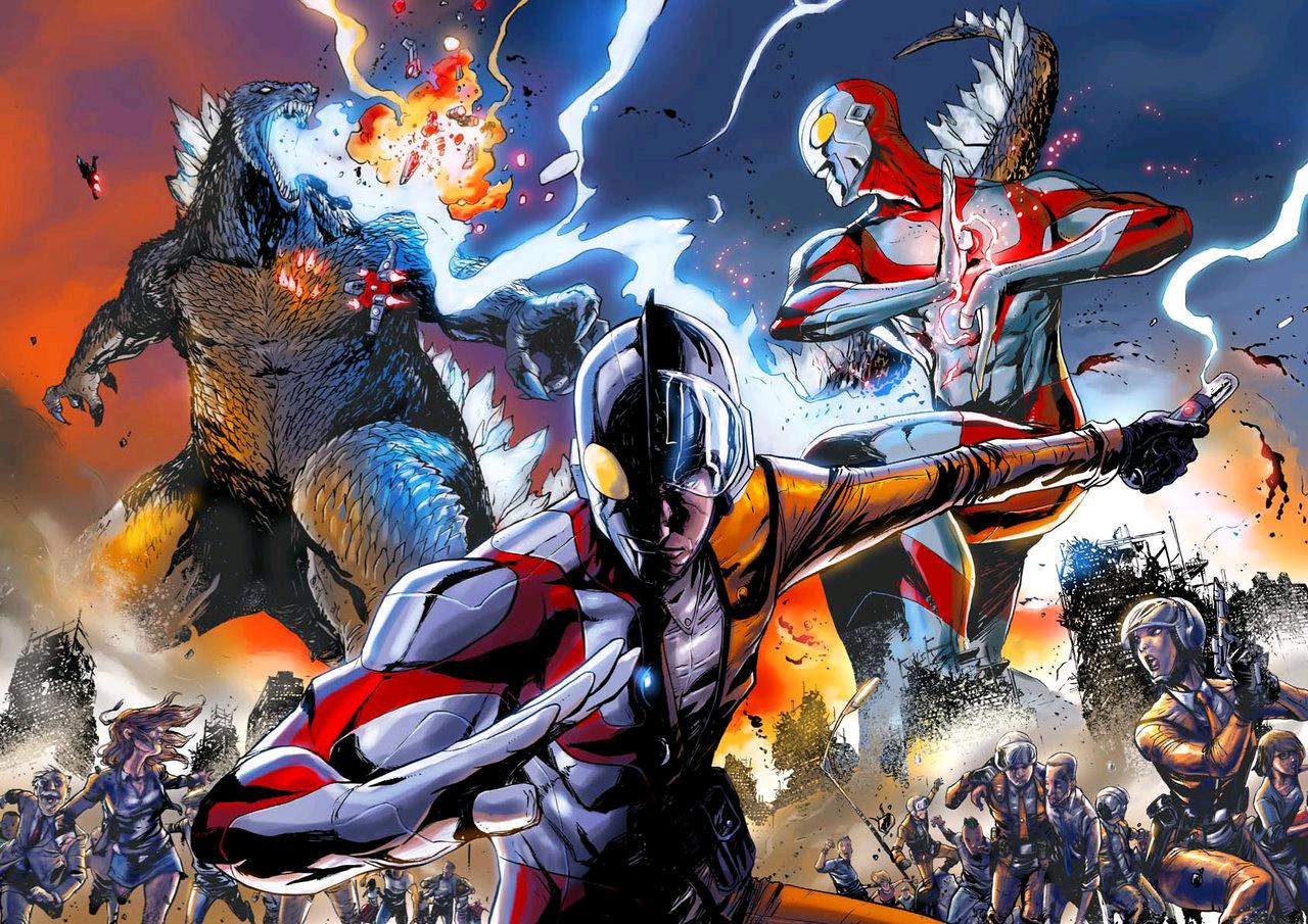 Image - ULTRAMAN VS GODZILLA.png | Ultraman Wiki | FANDOM ...  Image - ULTRAMA...