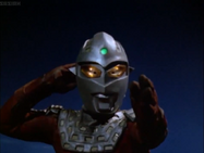 Ultraseven uses Ultra Willpower to re-took control Eye Slugger