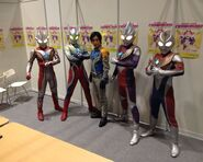 Takeshi with Ultra Brothers