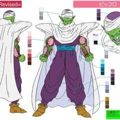 Piccolo's concept art for Yo! Son Goku and His Friends Return!!