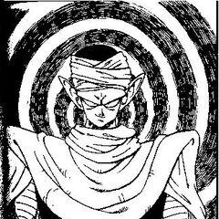 Piccolo preparing his strength.