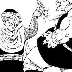 Piccolo defeating fighters in the 23rd Tenkaichi Budokai