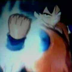 His fist has a aura?
