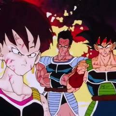 Bardock, Tora, and Fasha in a flashback