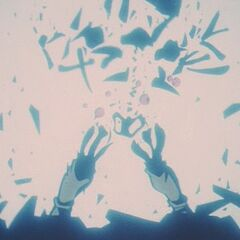 Omega being destroyed by the Universal Spirit Bomb