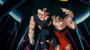 Goku helps Vegeta