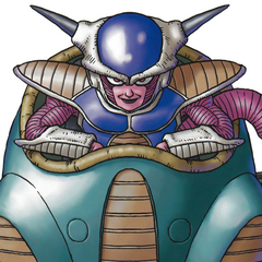 Art of Frieza in his first form by Akira Toriyama