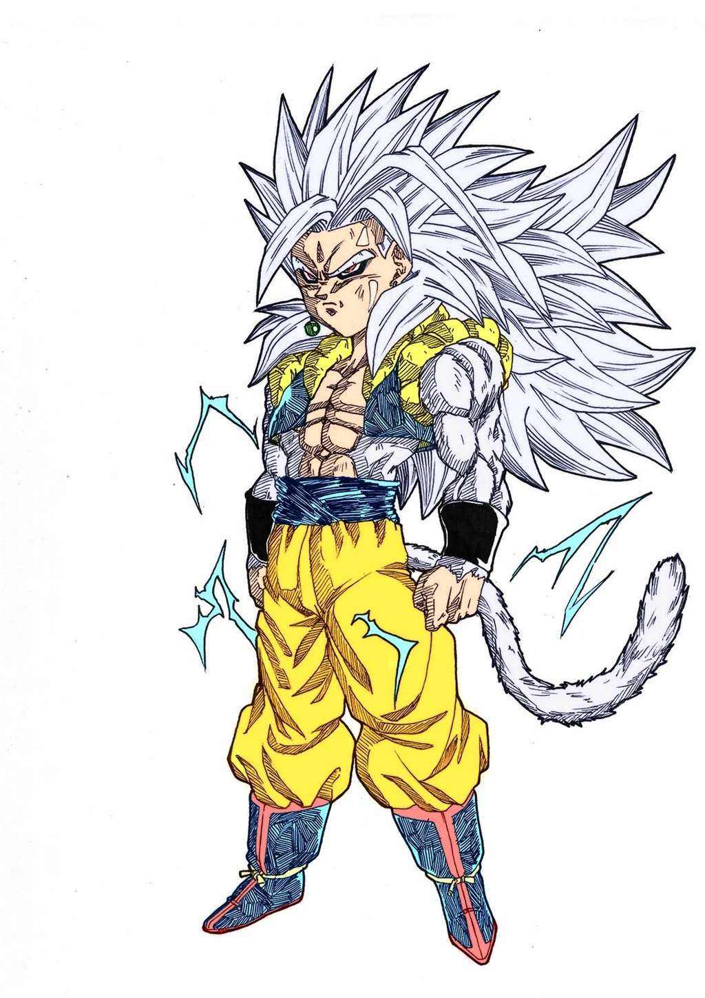 Image gotenkshan super saiyan 5 by ssjgogeto ultra dragon ball wiki fandom - Super sayen 10 ...