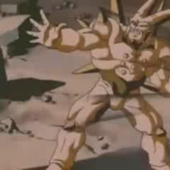 Omega Shenron notices the Spirit Bomb