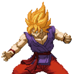 Kakarot in the art style of Extreme Butoden