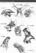 Monster Head Manga Concept