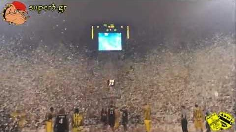 Aris Thessaloniki - Superb performance by ARIS' fans