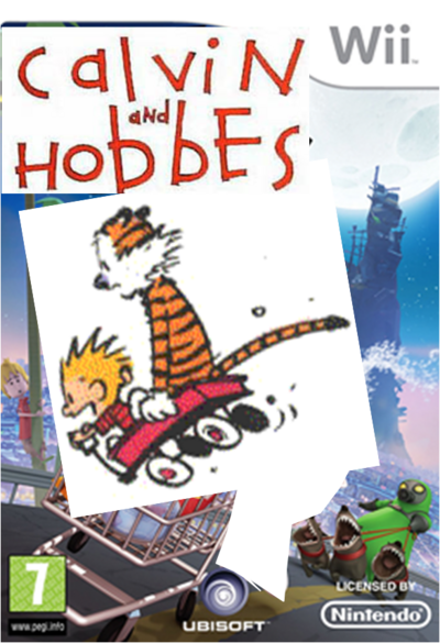 Calvin and hobbes go home cover wii