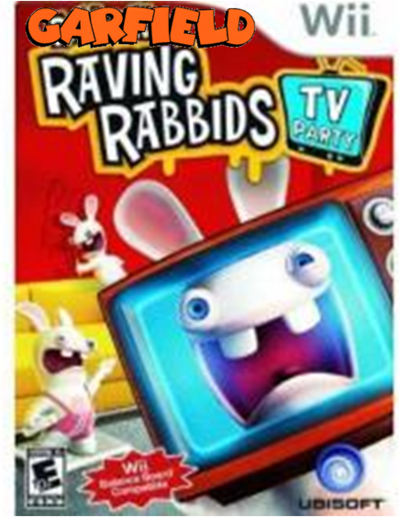 Garfield raving rabbids tv party cover