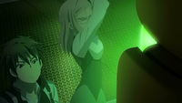 Eliza about to attack Raishin