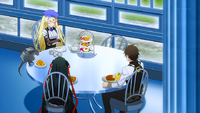 Charlotte, Sigmund, Raishin and Yaya Eating