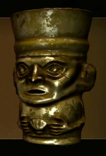Golden Inca Vessel